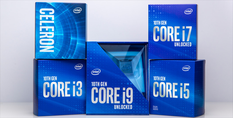 Intel 10th Gen CPU Product Stack Banner