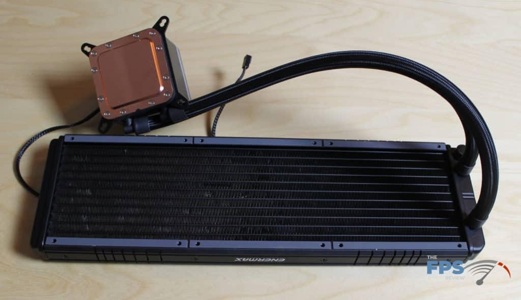 Enermax LIQTECH II 360mm AIO Cooler Radiator with copper heatplate shown