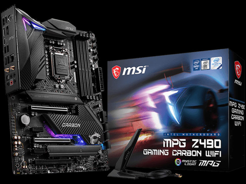 MSI MPG Z490 Gaming Carbon WiFi Motherboard Featured Image