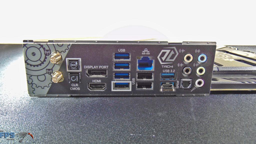 ASRock B550 Taichi Motherboard I/O Panel