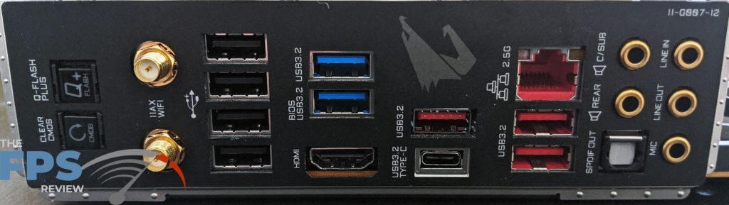GIGABYTE Z490 Aorus Master Motherboard I/O Panel