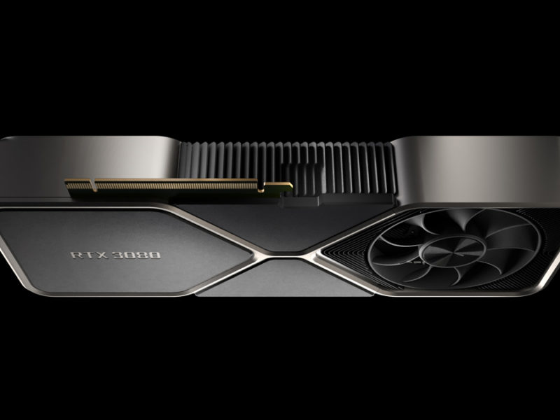 NVIDIA GeForce RTX 3080 Founders Edition Flipped Interface
