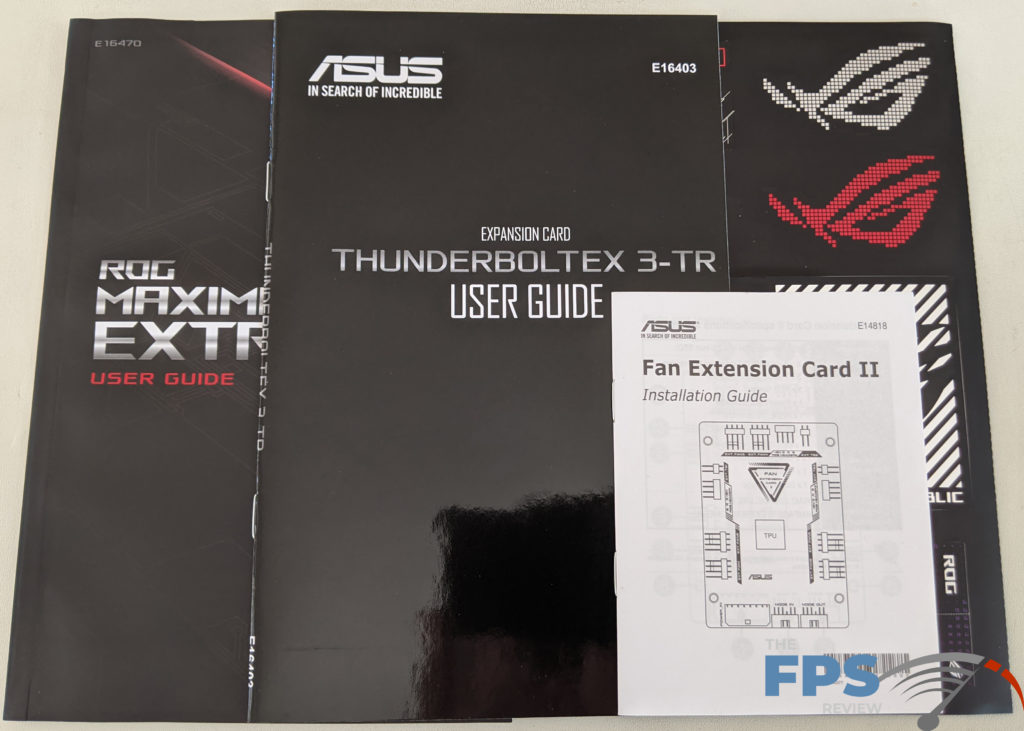 ASUS ROG MAXIMUS XII EXTREME Motherboard Box Contents