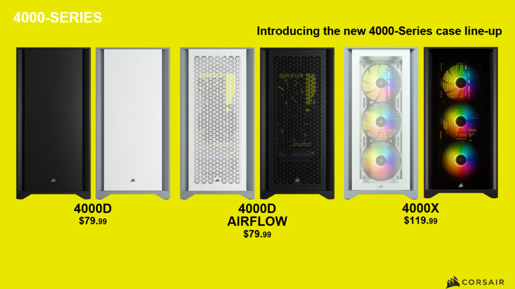 corsair 4000 series case line-up
