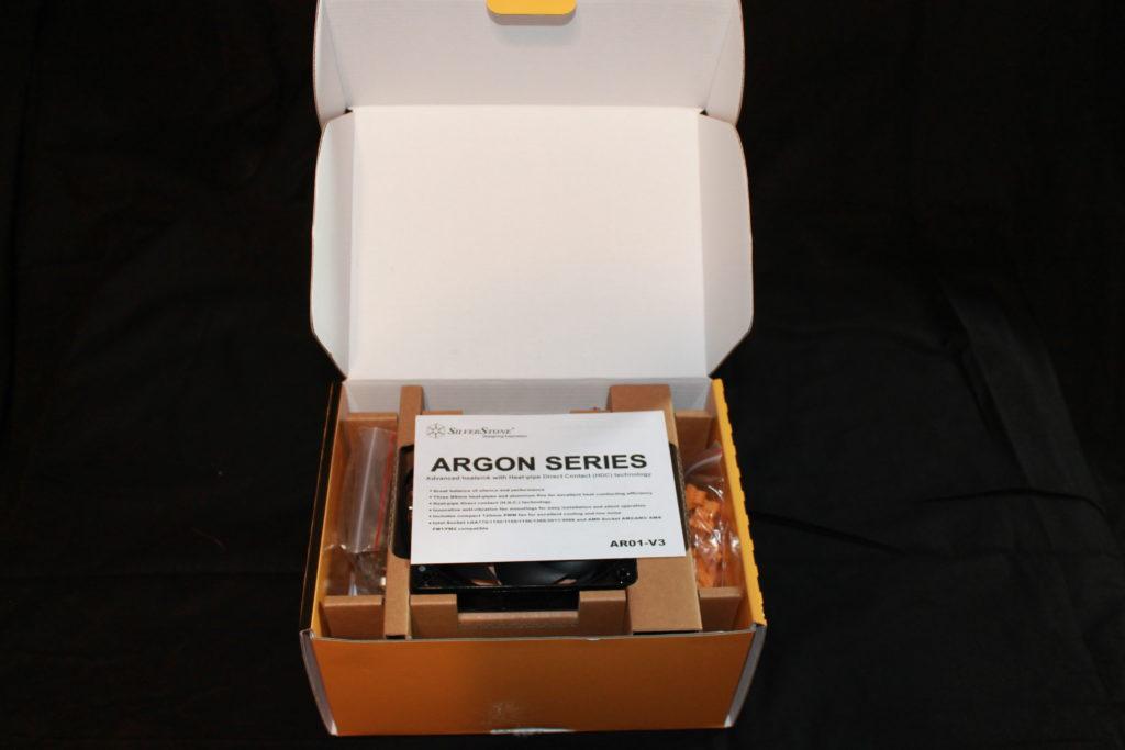 SilverStone AR01 V3 Air Cooler Box Open