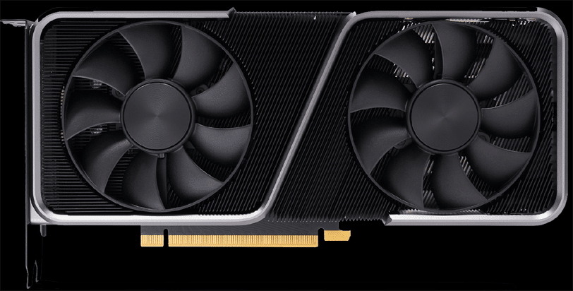 NVIDIA GeForce RTX 3070 Founders Edition Video Card Prominent on Black Background
