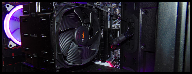 2020 CPU Air Cooling Refresh Banner Air Cooler installed on CPU in PC
