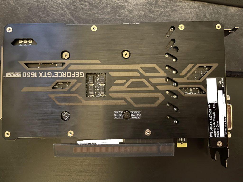 EVGA GeForce GTX 1650 SUPER SC ULTRA Gaming Metal Backplate