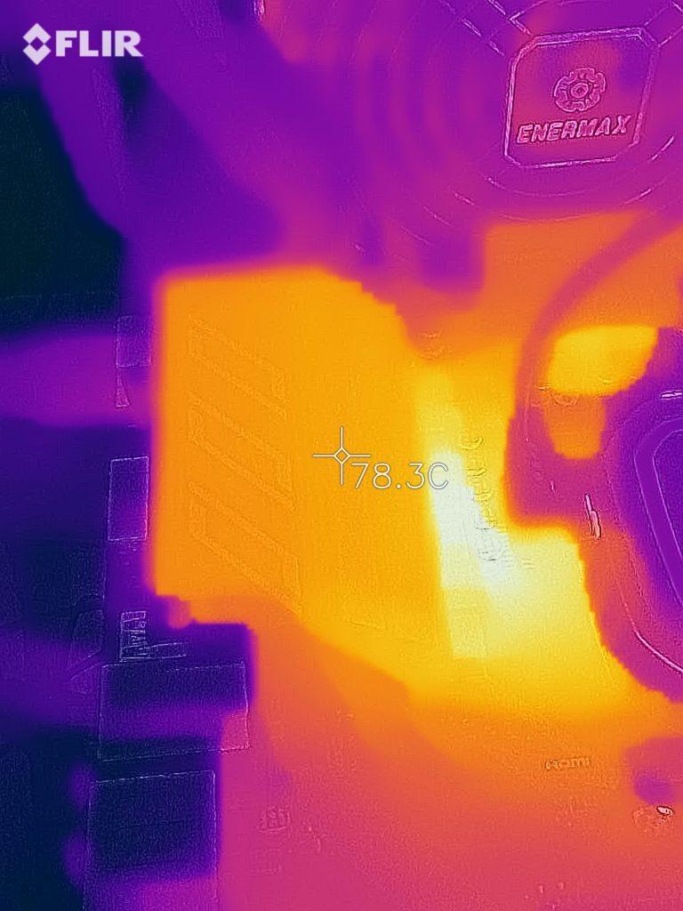 MSI X570-A PRO Motherboard VRM Thermal Temp