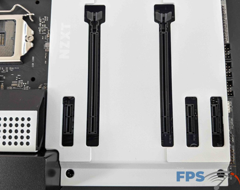 NZXT N7 Z490 Motherboard PCI Express Slots and Cover