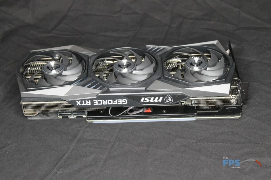MSI GeForce RTX 3070 GAMING X TRIO Top View
