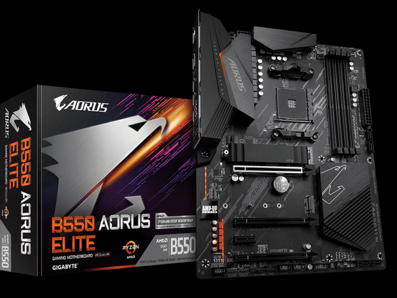 GIGABYTE B550 AORUS ELITE Motherboard Review Featured Image