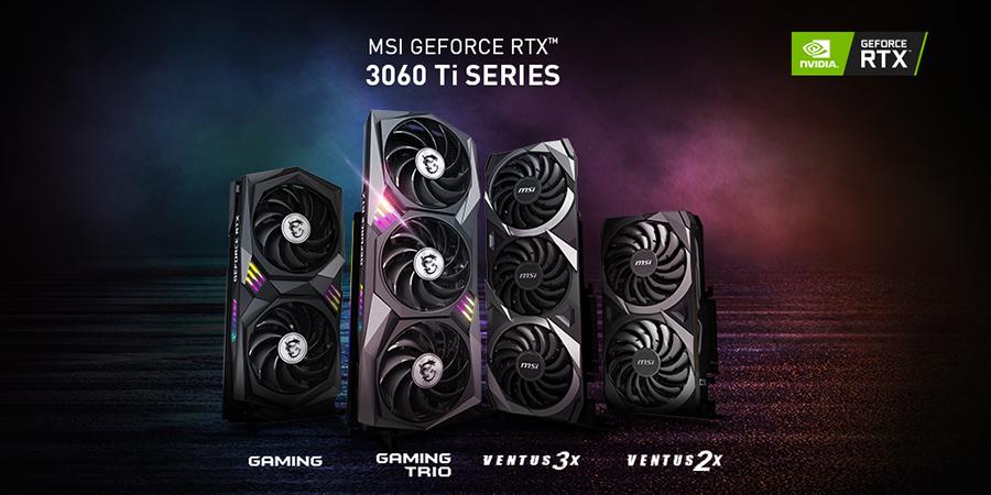 MSI GeForce RTX 3060 Ti Series Video Card Models