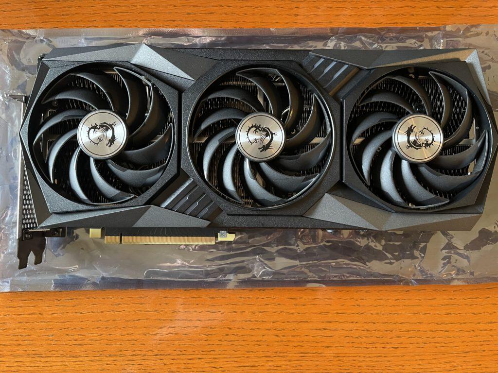 MSI GeForce RTX 3060 Ti GAMING X TRIO Video Card Overhead View