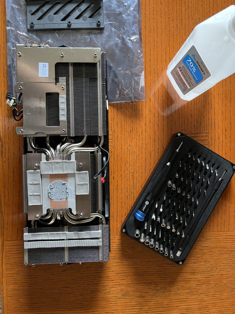MSI GeForce RTX 3060 Ti GAMING X TRIO Video Card Heatsink Disassembled