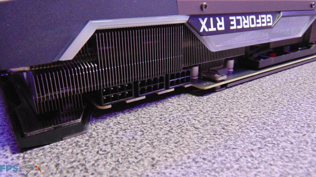 MSI GeForce RTX 3080 SUPRIM X Heatsink Edge of Card