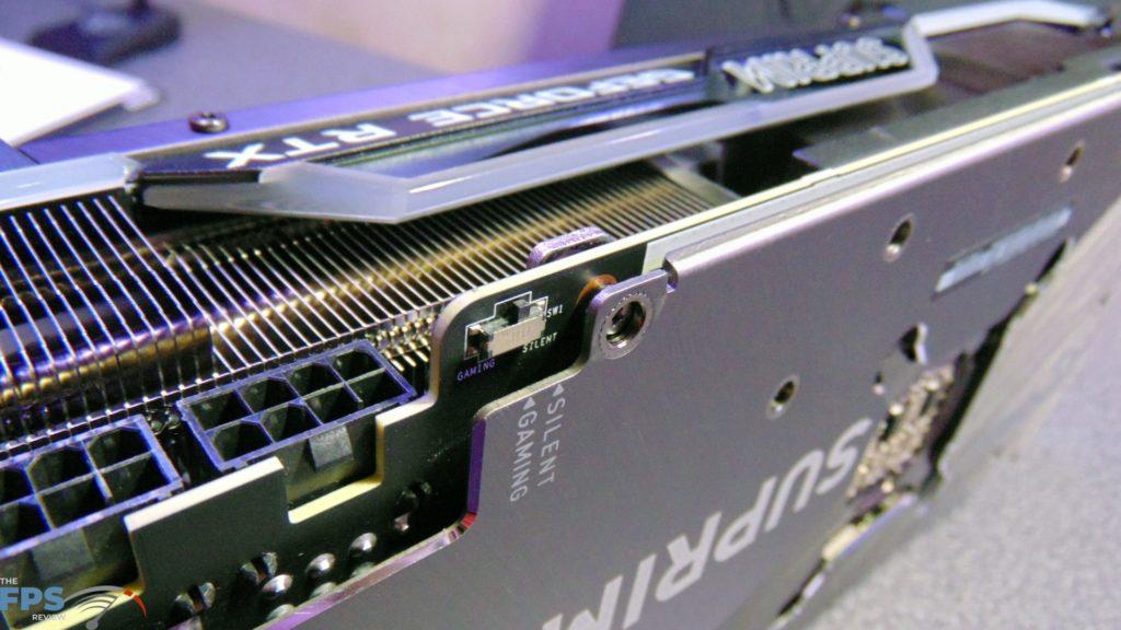 MSI GeForce RTX 3080 SUPRIM X dual-BIOS switch
