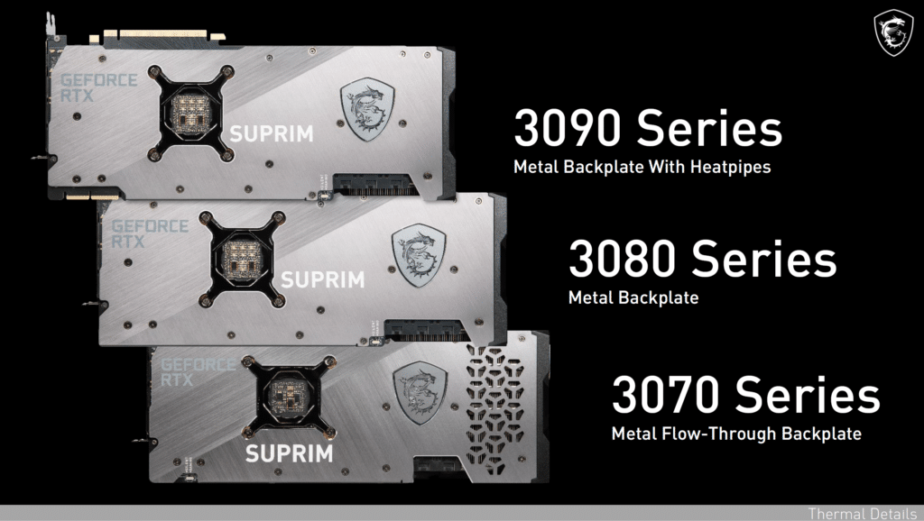MSI GeForce RTX 3080 SUPRIM X Product Marketing Information from MSI