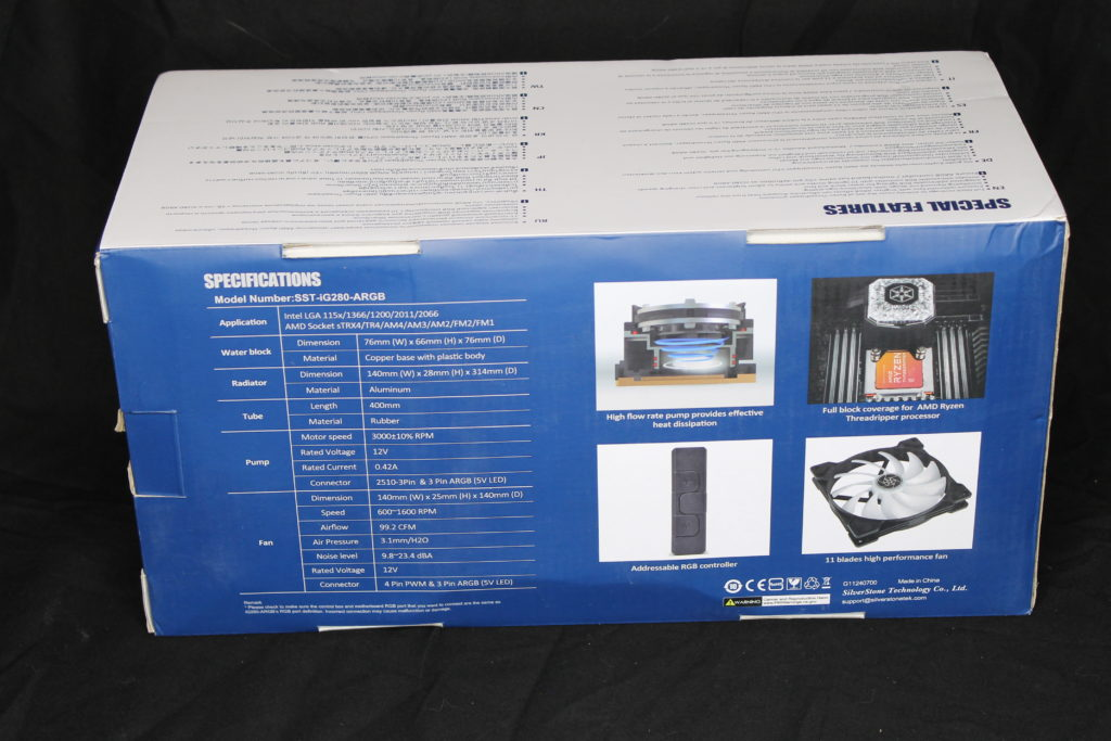 SilverStone IceGem 280 Box Rear