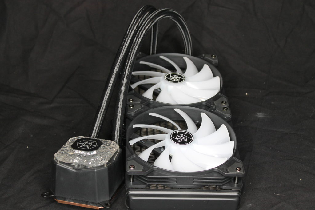 SilverStone IceGem 280 Pump and Radiator Assesmbled