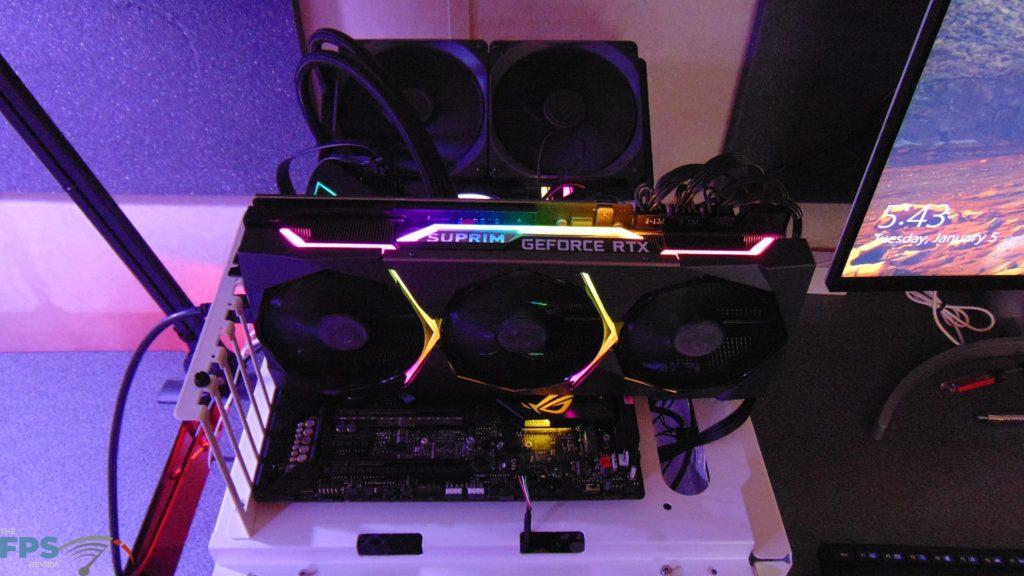 MSI GeForce RTX 3080 SUPRIM X Whole video card RGB in the dark