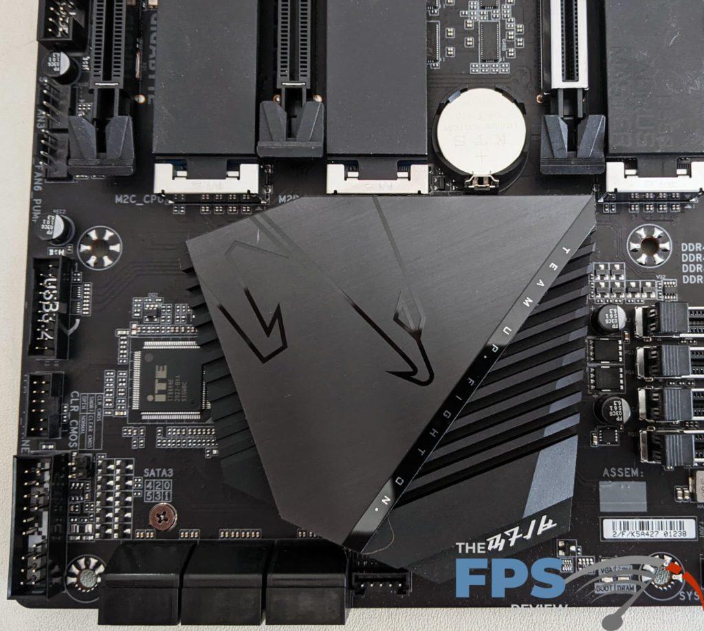 GIGABYTE B550 Aorus Master Chipset Cooling
