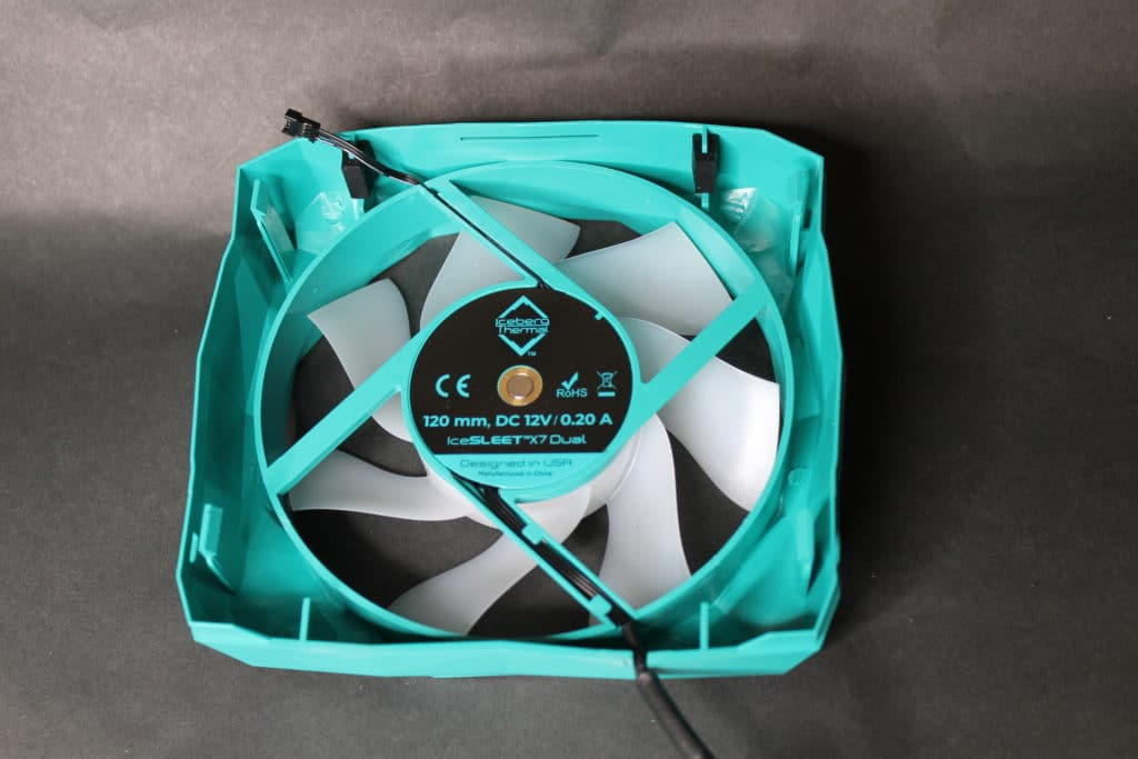 Iceberg Thermal IceSLEET X7 Dual  120mm fan back view