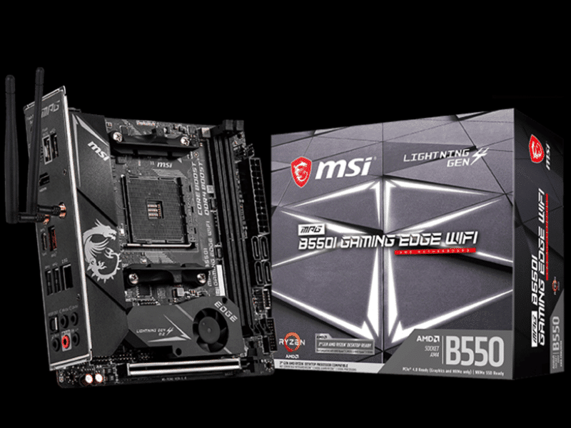 MSI B550I GAMING EDGE WIFI Motherboard Review Featured Image