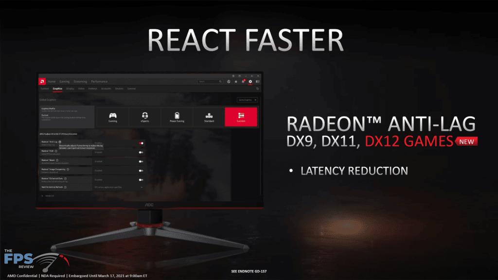 AMD Radeon RX 6700 XT Video Card Review Radeon Anti-Lag