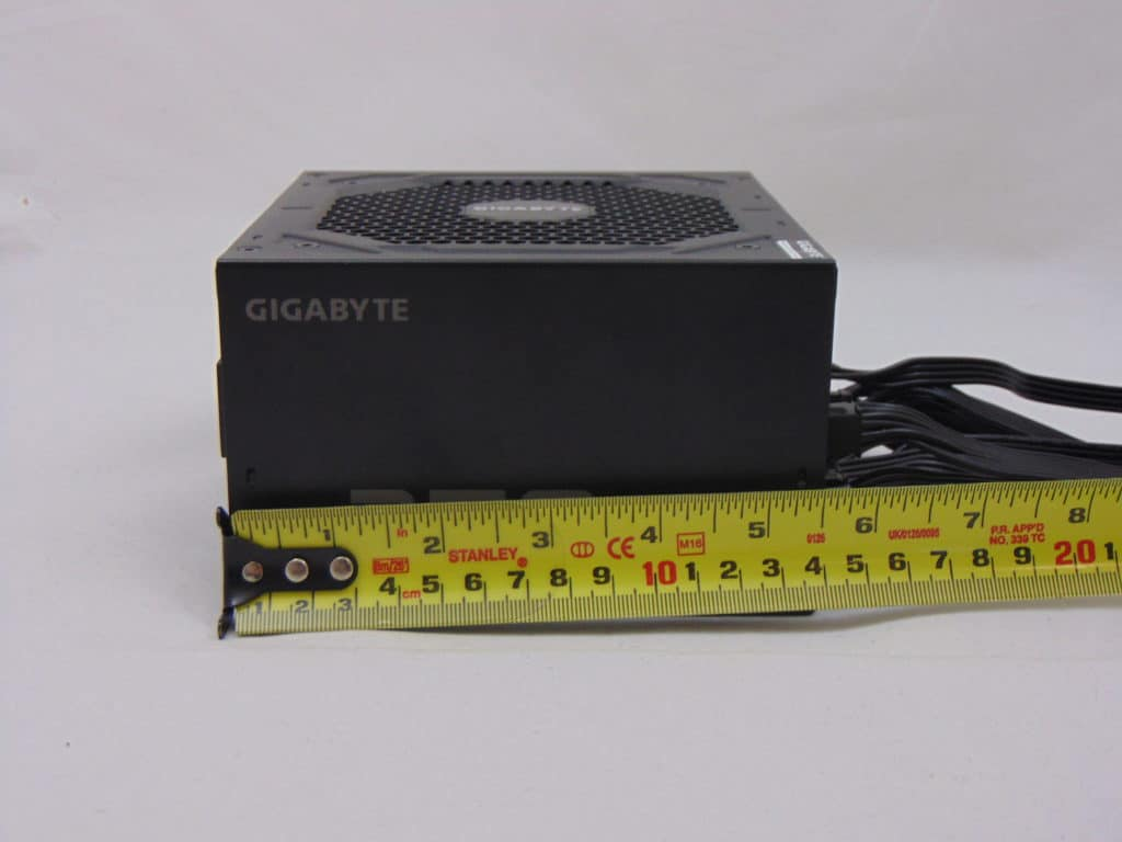 GIGABYTE P750GM 750W Power Supply Measuring Power Supply with Ruler