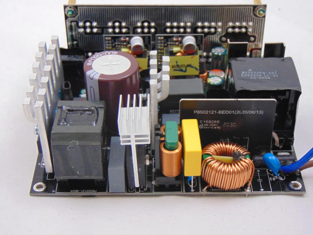GIGABYTE P750GM 750W Power Supply Closeup of Inside Components