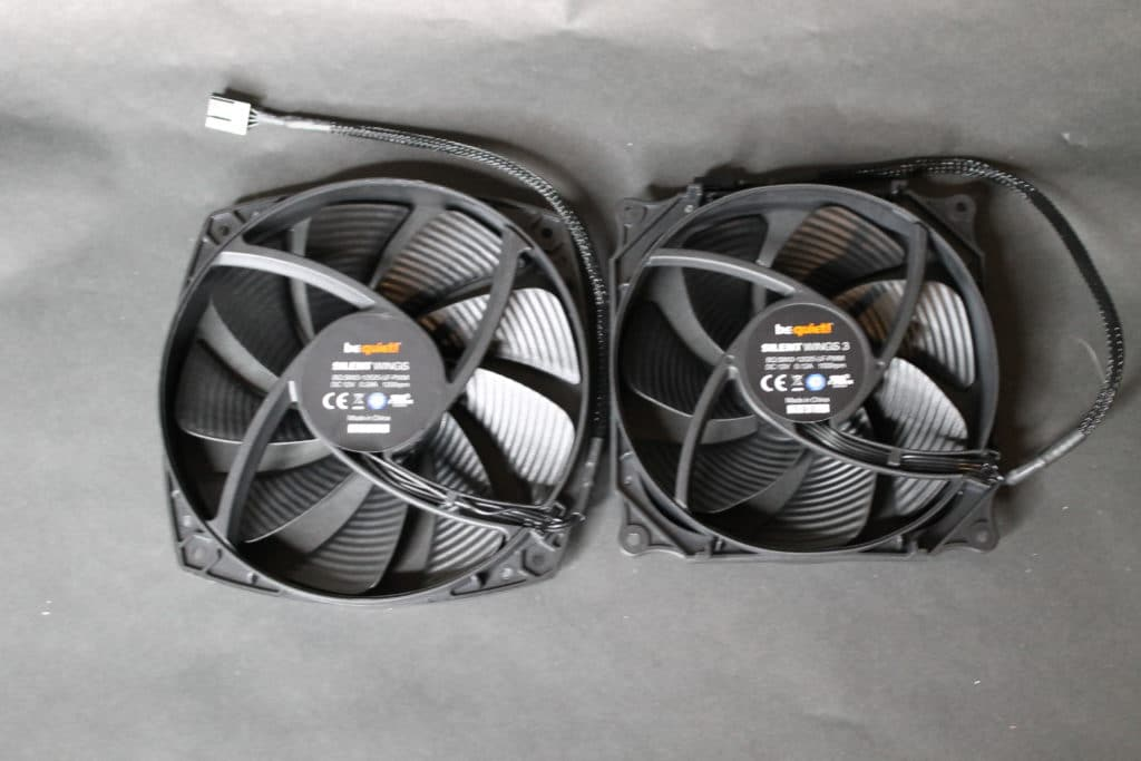 Silent Wings 120mm and 135mm fans back view