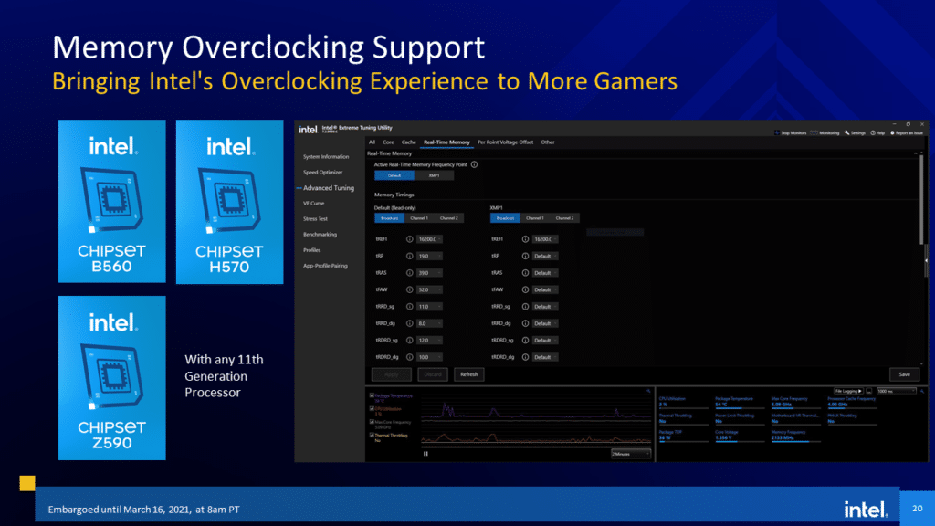 Intel 11th Gen Core Desktop Processor  Rocket Lake-S Memory Overclocking Support