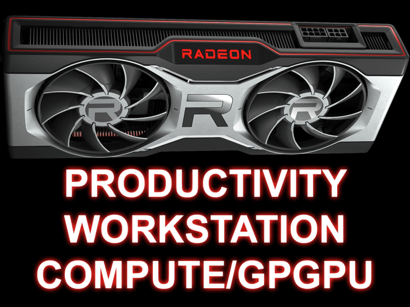 AMD Radeon RX 6700 XT Productivity Workstation Compute/GPGPU Featured Image