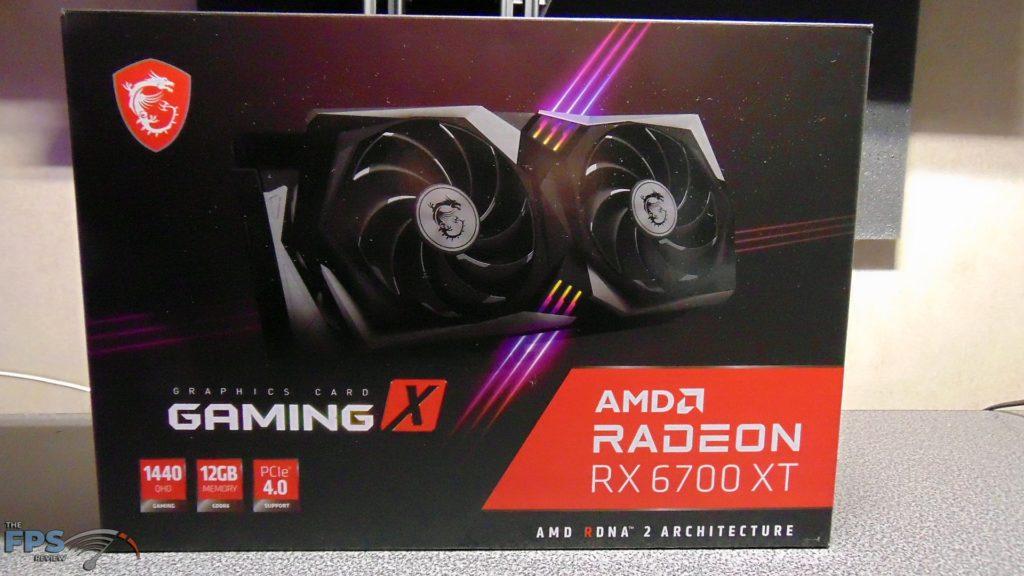 MSI Radeon RX 6700 XT GAMING X box front