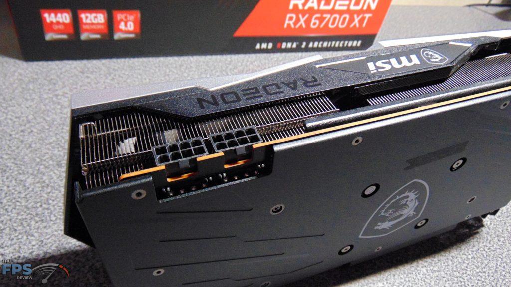 MSI Radeon RX 6700 XT GAMING X pci express power connectors