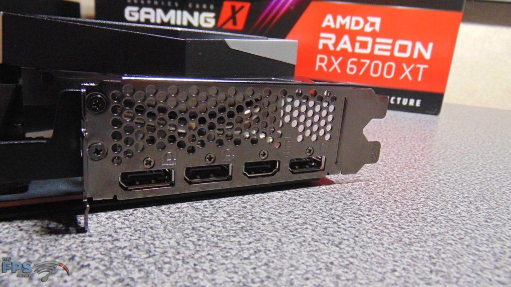 MSI Radeon RX 6700 XT GAMING X i/o ports