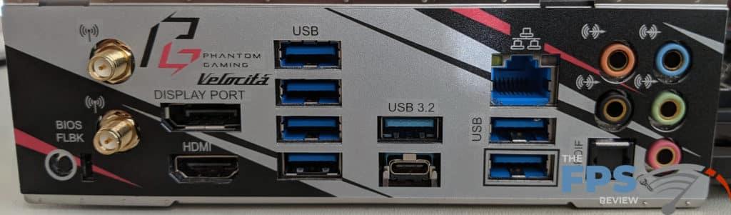 ASRock X570 PG Velocita Motherboard I/O Ports