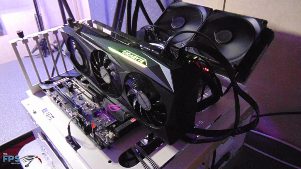 GIGABYTE GeForce RTX 3090 GAMING OC Video Card Installed in System