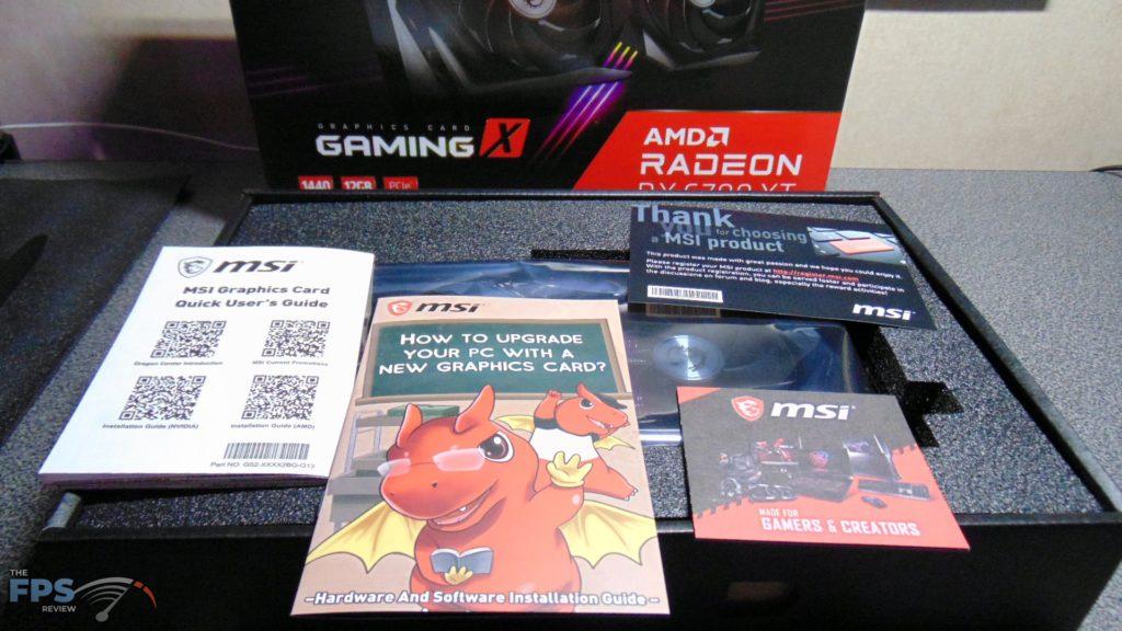 MSI Radeon RX 6700 XT GAMING X box contents