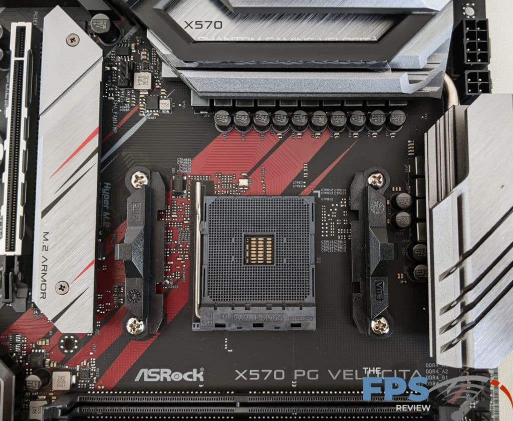 ASRock X570 PG Velocita Motherboard CPU Socket