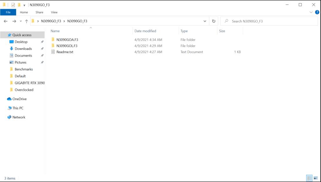 GIGABYTE GeForce RTX 3090 GAMING OC BIOS Updater