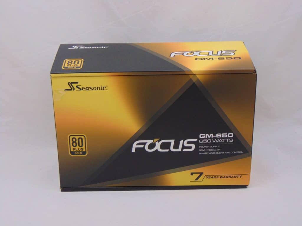 Seasonic FOCUS GM-650 650W Power Supply Front of Box