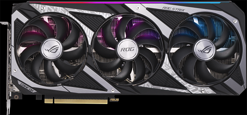 ASUS ROG STRIX GeForce RTX 3060 OC Edition Front of Card