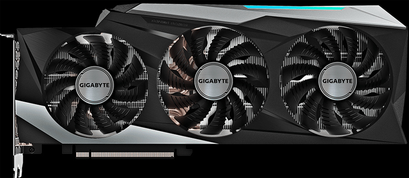 GIGABYTE GeForce RTX 3090 GAMING OC Video Card Front View