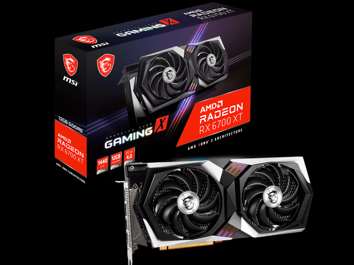 MSI Radeon RX 6700 XT GAMING X video card and box featured image