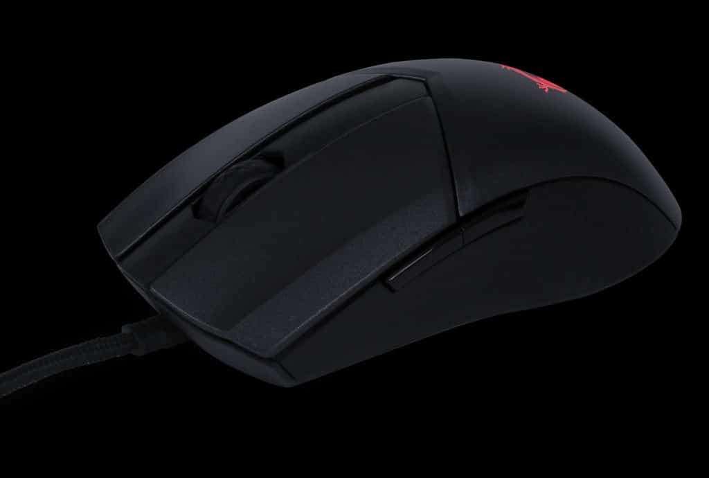 MSI CLUTCH GM41 LIGHTWEIGHT WIRELESS Front Left Quarter with Cable Attached