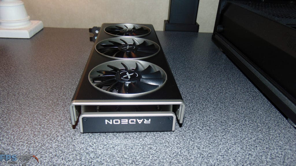 XFX SPEEDSTER MERC 319 BLACK AMD Radeon RX 6700 XT end of video card right side up