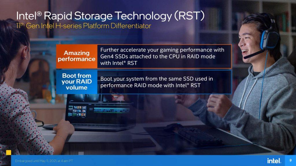 11th Gen Intel Core H-series Mobile Processors Presentation Intel RST