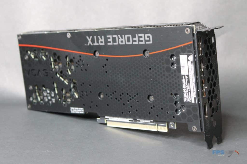 EVGA GeForce RTX 3070 XC3 ULTRA back angle view